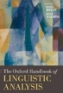 The Oxford Handbook of Linguistic Analysis - Bernd Heine and Heiko Narrog